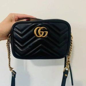 NEW Authentic GUCCI GG Marmont Small Camera Bag